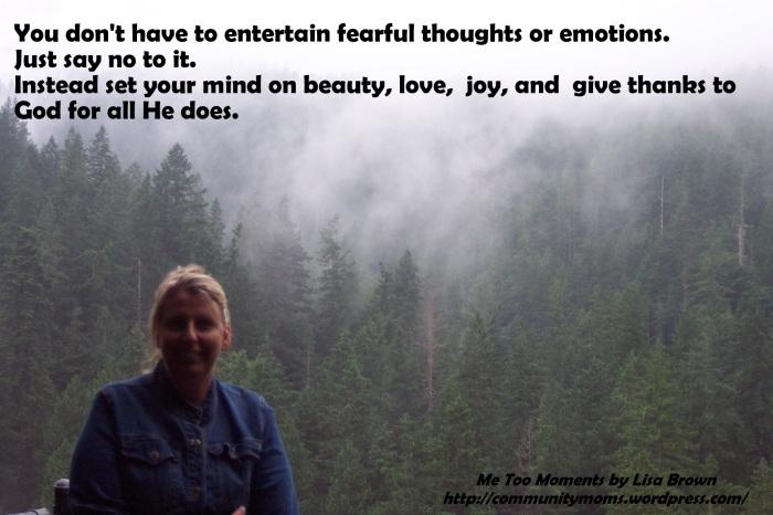 dont entertain fear