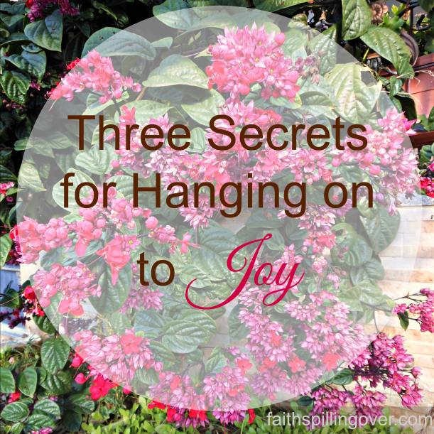 Three Secrets for hanging on to Joy
