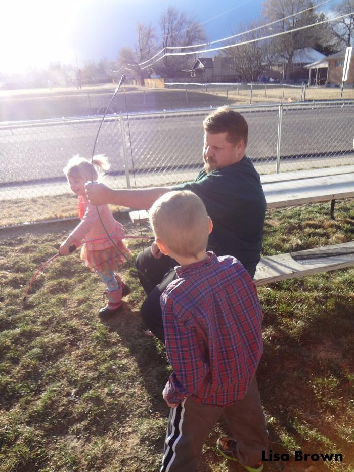 daddy teach bows