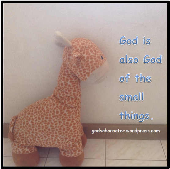 God is God of small things