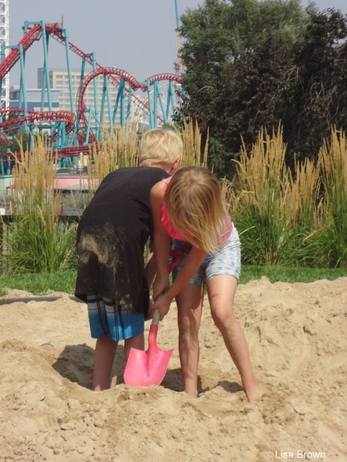 Digging in Sand