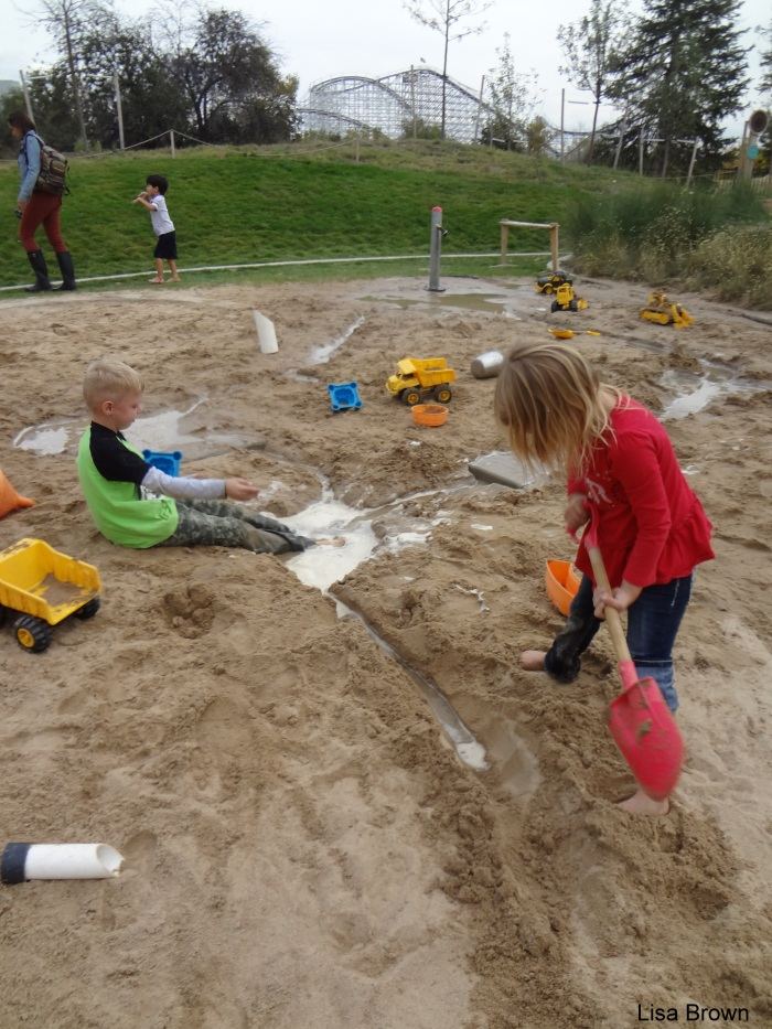 kids in the sand